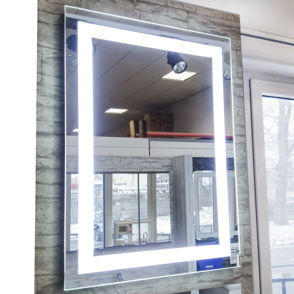Lustro łazienkowe 80 X 60 Cm Oświetlenie Led Fackelmann 521645 Ekspozycja