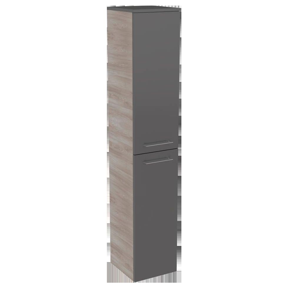 Szafka łazienkowa Boczna 2 Drzwiowa 4 Półki Szklane Lima