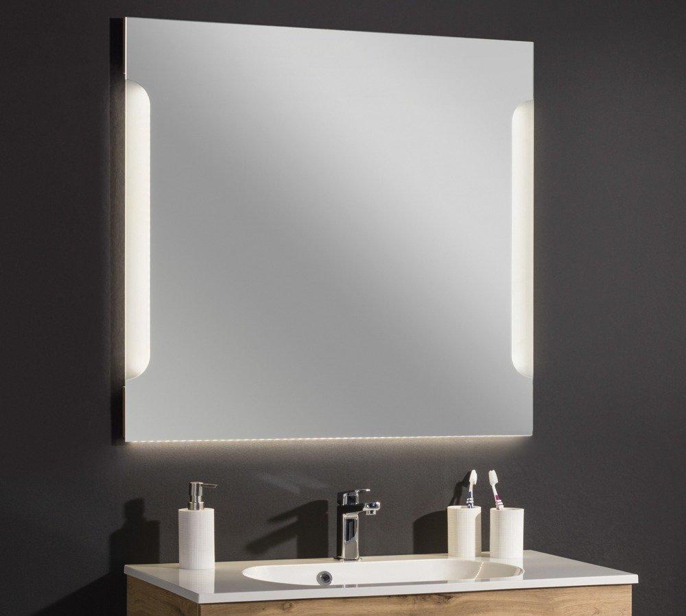 Lustro łazienkowe Dąb 90 Cm Z Oświetleniem Led Kolekcja Alpha